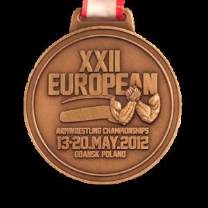 МЕДАЛЬ – XXII European Armwrestling Championships 2012