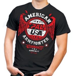Футболка unisex AMERICAN ARMFIGHTER – черная.