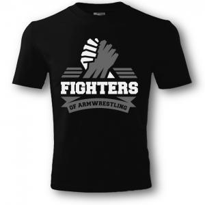 Футболка unisex FIGHTERS – черная. Печати: белый-серый