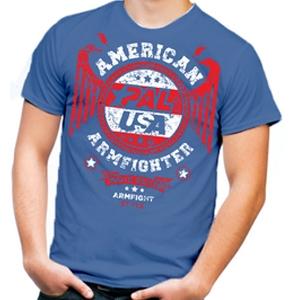 Футболка unisex AMERICAN ARMFIGHTER – синий