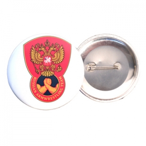 """Пристежка – button """"Russian Armwrestling Team"""""""