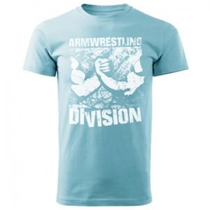 Футболка unisex ARMWRESTLING  DIVISION - голубая