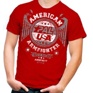 Футболка unisex AMERICAN ARMFIGHTER – красный