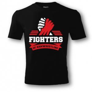 Футболка unisex FIGHTERS – черная. Печати: белый-красный