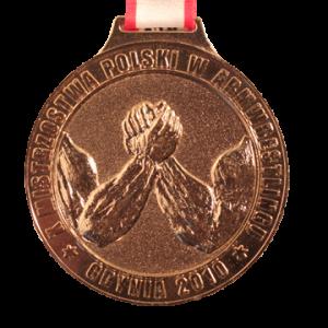 МЕДАЛЬ – X чемпионат Польши по армрестлингу  2010