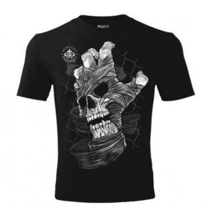 Футболка SKULL HAND ARMFIGHT  (унисекс) - черный